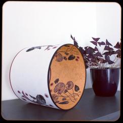 diamètre 30 cm / ht 25 cm * blanc pur / orange * carpes / nénuphars